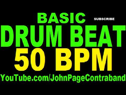 Basic Straight Drum Beat Loop 50 bpm HALF HOUR LONG 4/4 Metronome