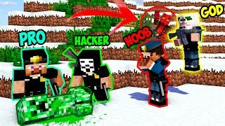 Minecraft Noob Vs Pro Vs Hacker Vs God Creeper Fall Inspection In Minecraft  Animation