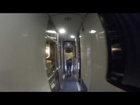 Walking though the viewliner sleeping cars on Amtrak Silver Star