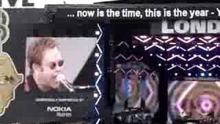 Elton John-children of the revolution-LIVE 8 London