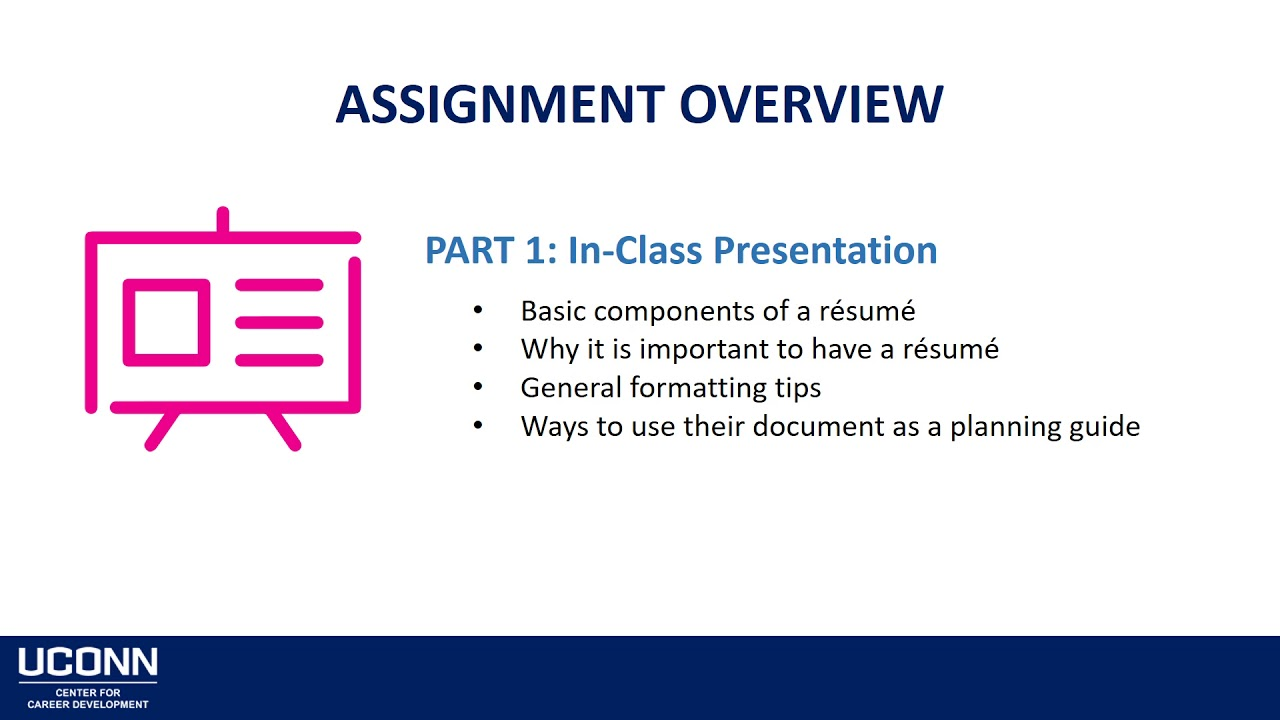 Introduction to the CCD Résumé Writing Assignment - YouTube