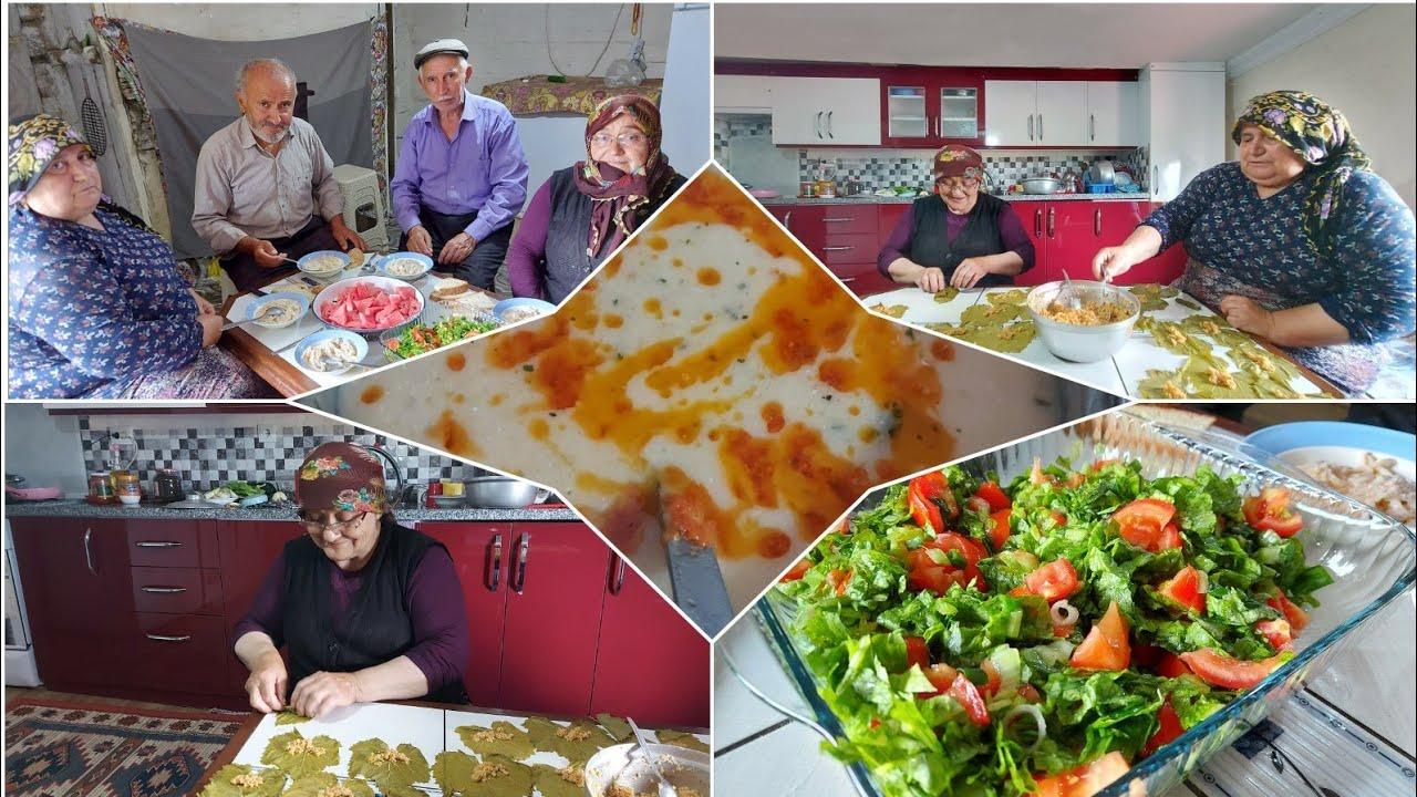 Öğlen yemeği ve yaprak sarması günlük vlog
