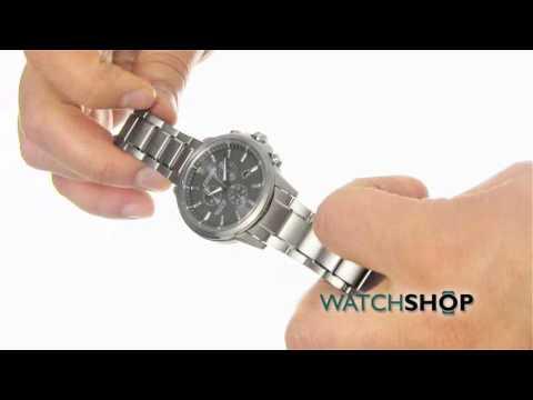 Citizen Men's Sport Ti Chronograph Eco-Drive Watch (AT2340-56H)