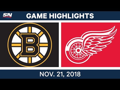 NHL Highlights | Bruins vs. Red Wings – Nov. 21, 2018