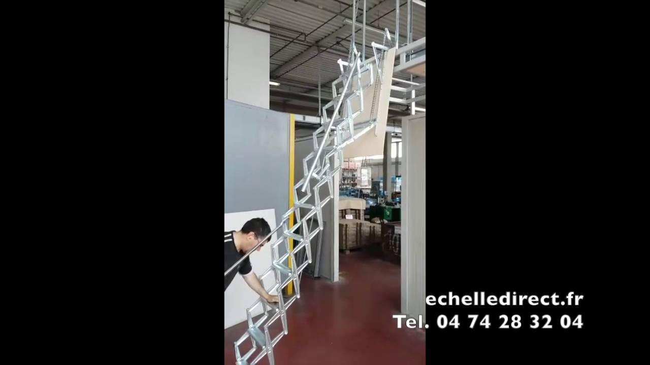 echelle escamotable pour mezzanine echelle direct matis re youtube. Black Bedroom Furniture Sets. Home Design Ideas