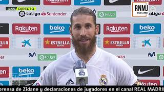 Declaraciones de SERGIO RAMOS post Barcelona 1-3 Real Madrid (24/10/2020)