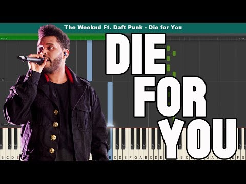 Die for You Piano Tutorial - Free Sheet Music (The Weeknd)