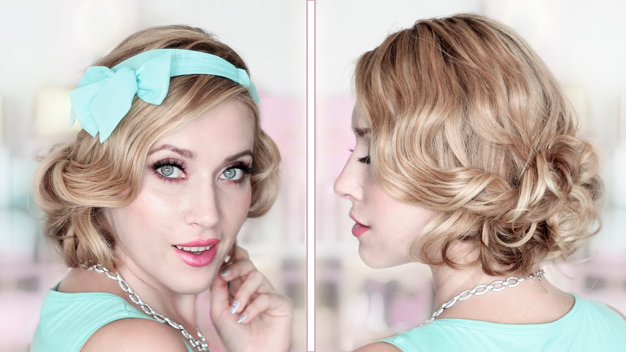 party/prom/wedding updo ❤ curly bob medium/long hair tutorial
