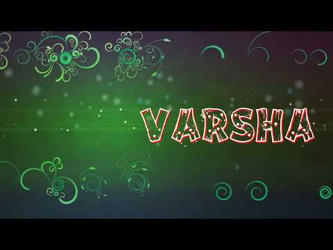 Varsha name animation
