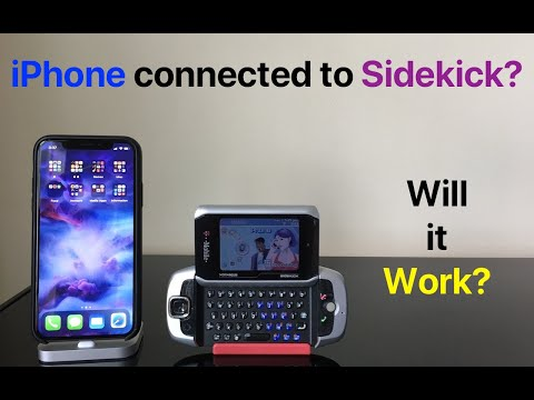 iPhone connected to Sidekick?  WILL IT WORK?