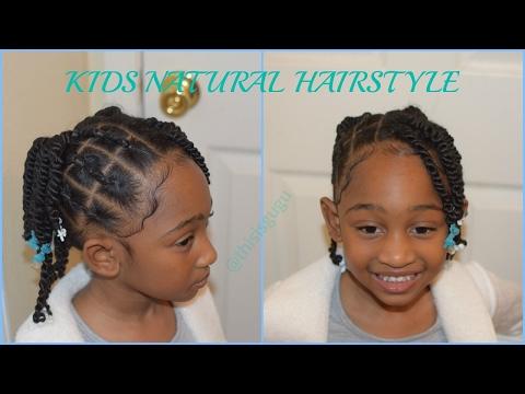 KIDS NATURAL HAIRSTYLES: Beginner Friendly Rubberband Braids/ Cornrows (BACK TO SCHOOL HAIRSTYLES)