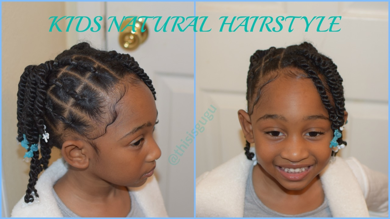 Kids Natural Hairstyles Beginner Friendly Rubberband Braids