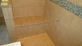Time lapse complete tile shower installation