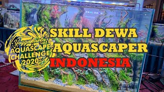 Skill Dewa Aquascaper Indonesia Yogyakarta Aquascape Contest 2020 Youtube