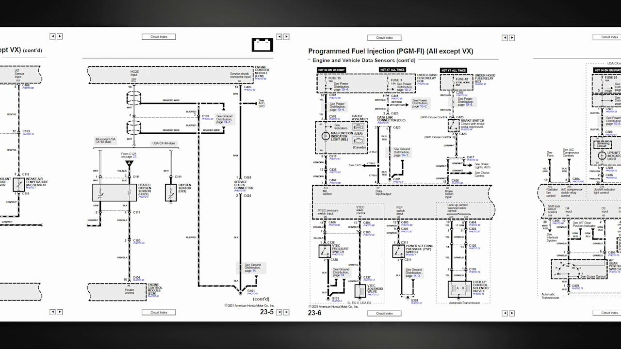 Honda Wiring Diagrams to 1995  YouTube