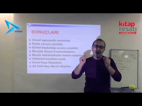 25) İnkılap Tarihi - 2.TBMM Dönemi Ve Cumhuriyet Dönemi İç Olayları - Hamza TATAR (2016)