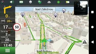 Test app NAVITEL NAVIGATOR GPS & MAPY - Android & iOS - Shot at SONY XPERIA XA2 ULTRA