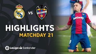 Highlights Real Madrid vs Levante UD (1-2)