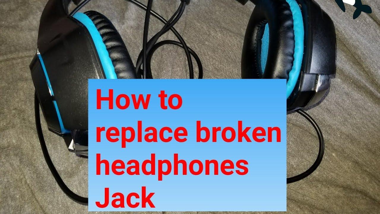 How to repair (replace) broken headphones jack plug - YouTube
