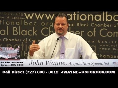 John Wayne procurement simplified acquisitions specialist and head trainer daily training 8a hubzone