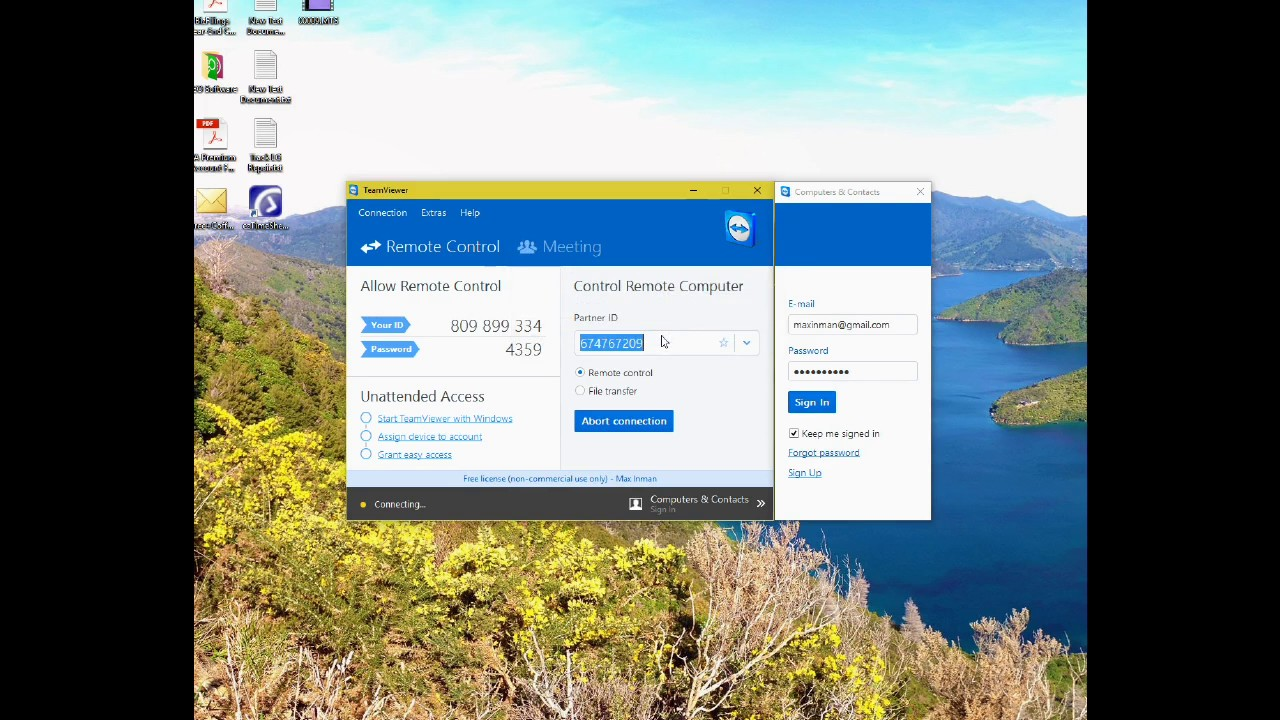 Change Team Viewer and Win 7 Account Passwords