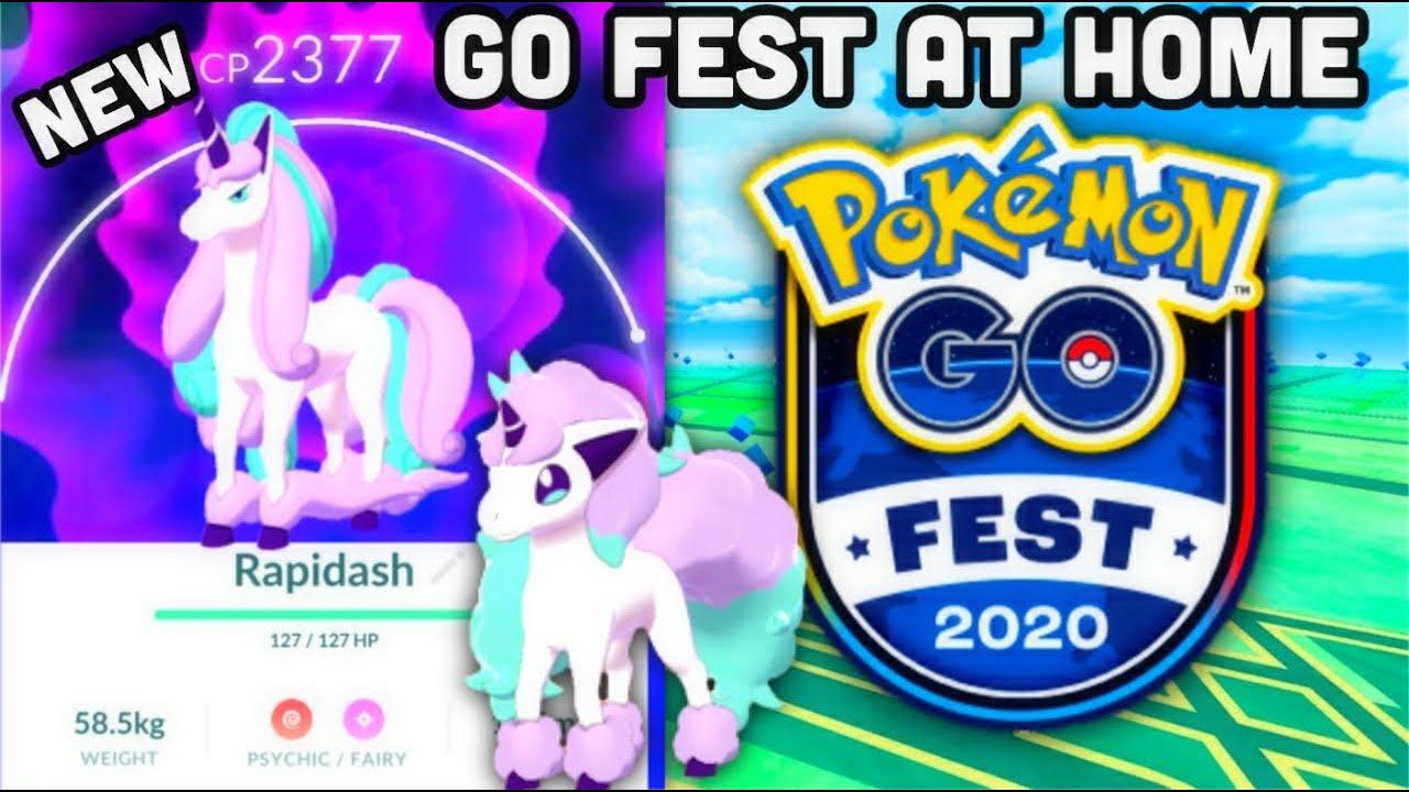 Go Fest At Home In 2020 Announced Pokemon Go New Galarian Pokemon Including Ponyta Rapidash Youtube