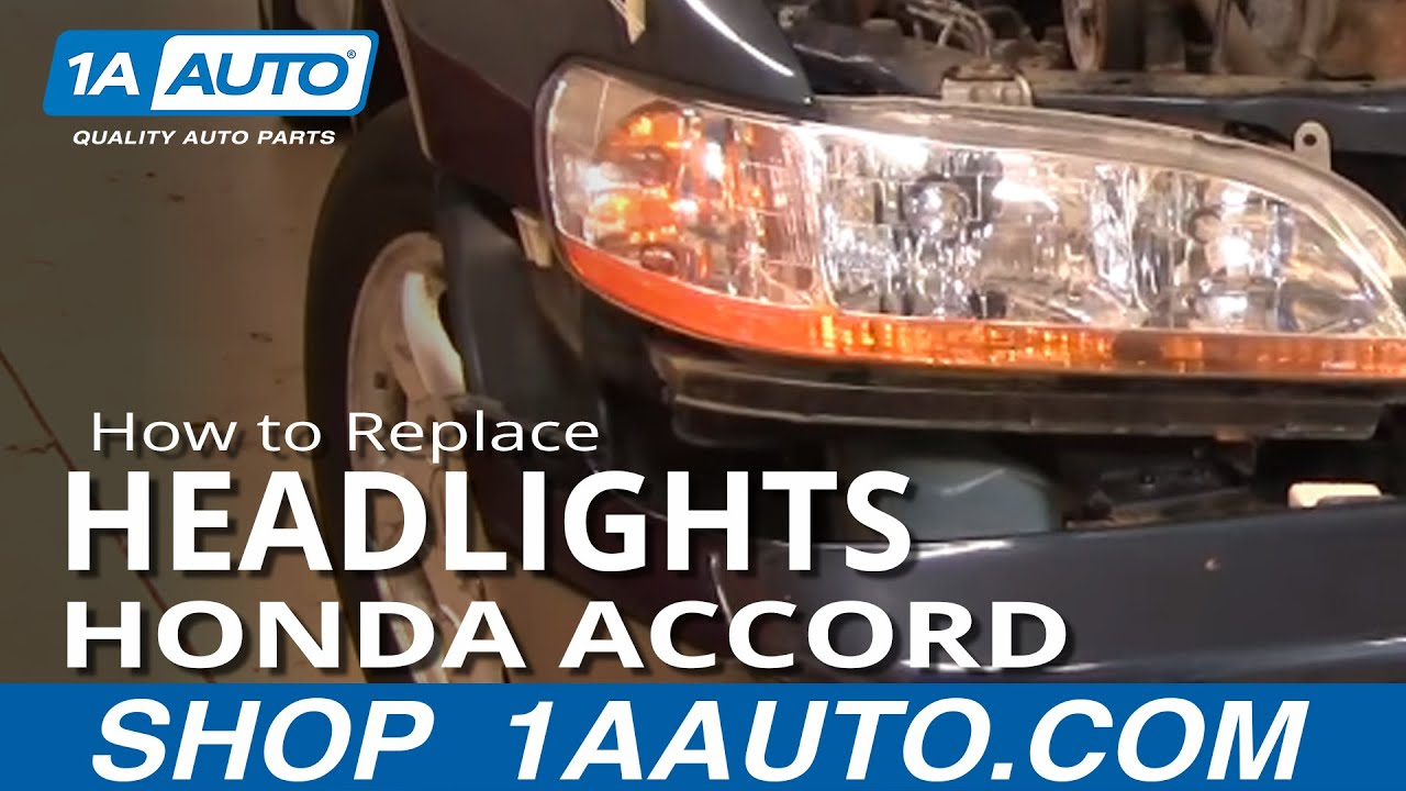 How To Replace Headlights 01 02 Honda Accord Youtube