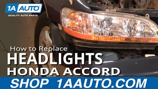 How To Install Repair Replace Broken Headlight or Bulb Honda Accord 98-02 1AAuto.com