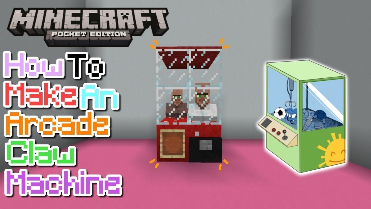 How to build an arcade claw machine in Minecraft PE  YouTube