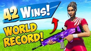 *WORLD RECORD* 42 WINS IN A ROW!! - Fortnite Funny Fails and WTF Moments! #551