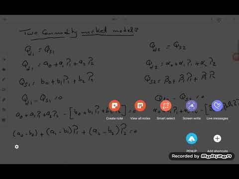 General equilibrium- two commodity market model