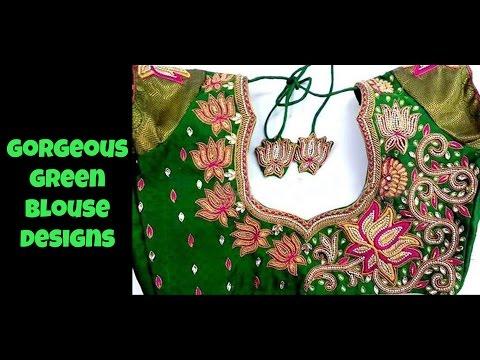 Gorgeous Green Blouse Designs