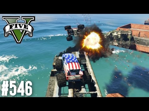 MONSTER TRUCK TROLL PARKOUR! (+DOWNLOAD) | GTA 5 - CUSTOM MAP RENNEN