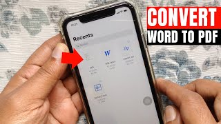 How to Convert a Word Documents to PDF in iPhone (Without Third-Party Tools)