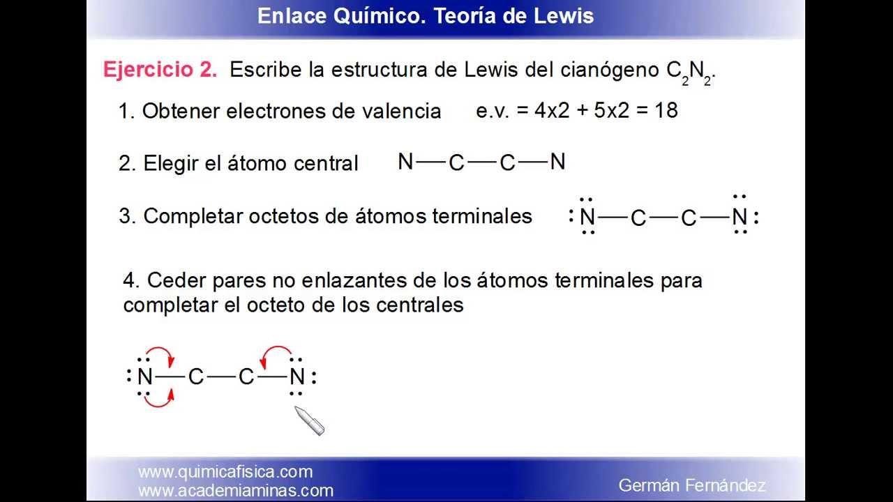 Estructura De Lewis Del Cian U00f3geno  C2n2