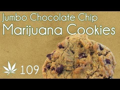 Jumbo Classic Cannabis Chocolate Chip Cookies Cooking With Marijuana #109
