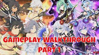 Neptunia X Senran Kagura Ninja Wars - Gameplay Walkthrough Part 1 | English (PS4 Pro, 1080p)