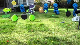Plants Vs. Zombies Pea Shooter Repeater in Action!