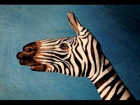 El Boyama Sanatiyla Yapilmis Hayvan Figurleri Youtube
