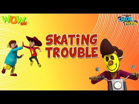 Skating trouble - Chacha Bhatija - 3D Animation Cartoon for Kids - As seen on Hungama