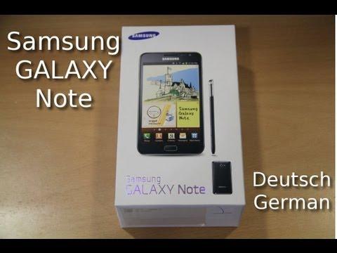 Samsung Galaxy Note Review in HD (Deutsch / German)