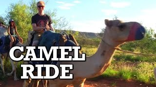 Joe Goes On A Camel Ride In The Outback