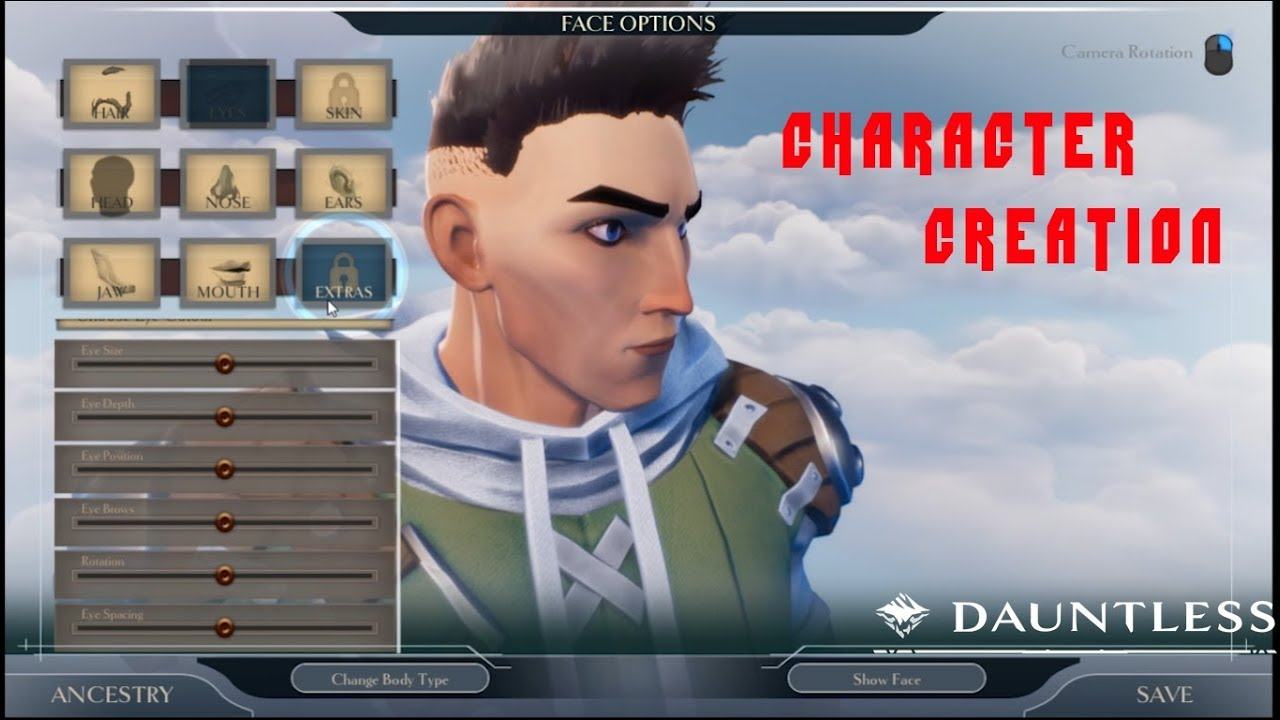 how to create character dauntless