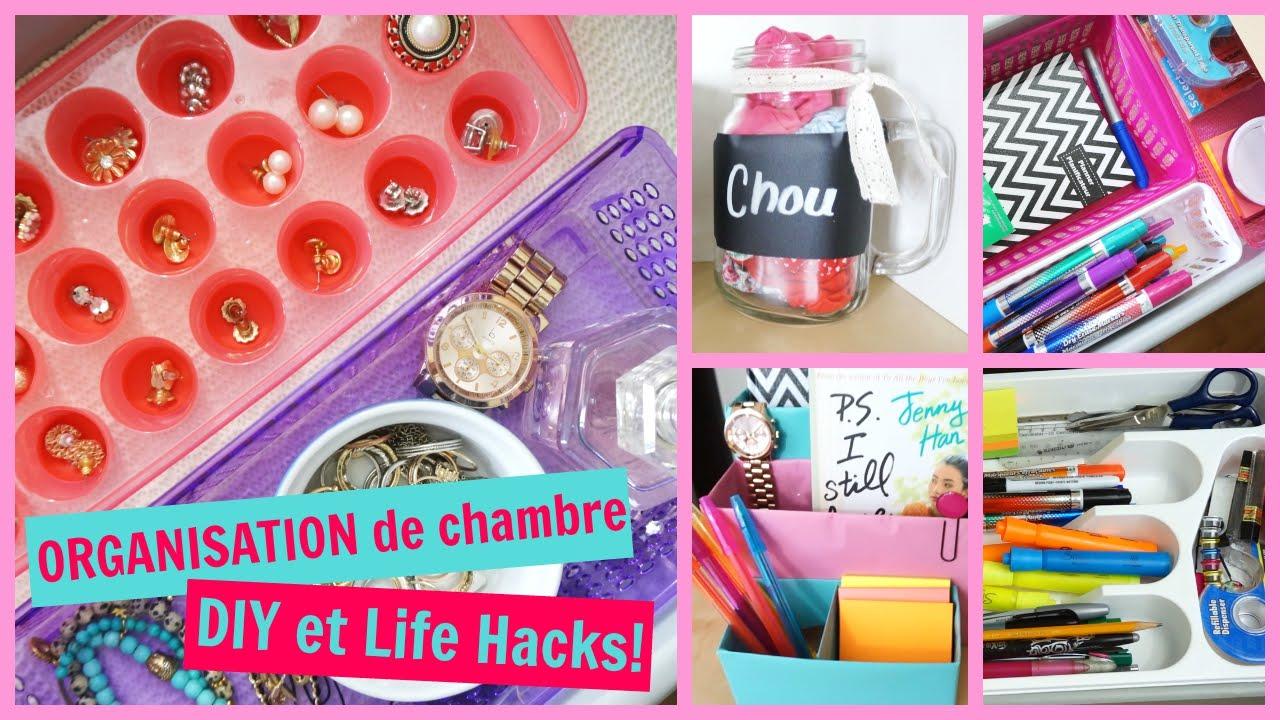 Organisation De Chambre  Diy & Life Hacks!  Youtube