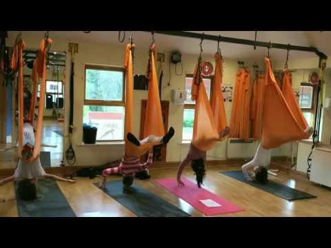Kids antigravity yoga