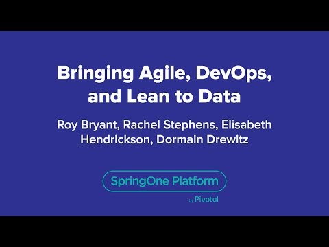 Bringing Agile, DevOps, and Lean to Data