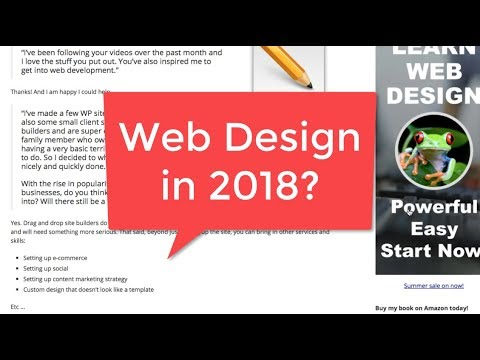 Is Web Design still Good to Learn in 2018?