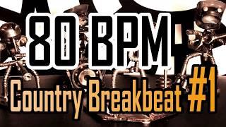 80 BPM - Country Breakbeat #1 - 4/4 Drum Beat - Drum Track