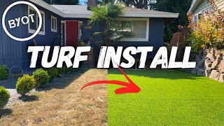 HOW TO INSTALL SYNTΗETIC GRASS // DIY Artificial Grass