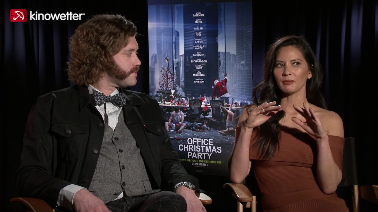 Watch Office Christmas Party.Interview T J Miller Olivia Munn Office Christmas Party